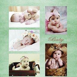 Nellie Snellen Bilderbogen A4, Vintage Babies