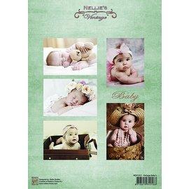 Nellie Snellen Bilderbogen A4, Vintage Babyer