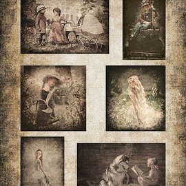 Nellie Snellen Bilderbogen A4, Vintage Kinder