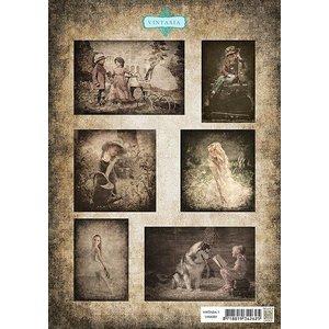 Nellie Snellen Bilderbogen A4, Vintage Kinderen