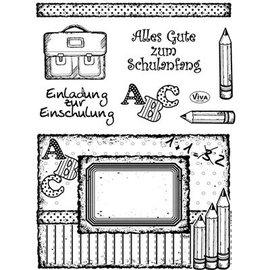 VIVA DEKOR (MY PAPERWORLD) Transparent stamps, school enrollment