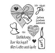 VIVA DEKOR (MY PAPERWORLD) Transparent Stempel, Einladung zur Hochzeit