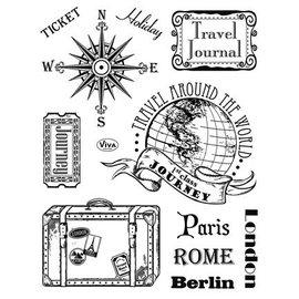 VIVA DEKOR (MY PAPERWORLD) Transparent Stempel, Paris-Rome-Berlin