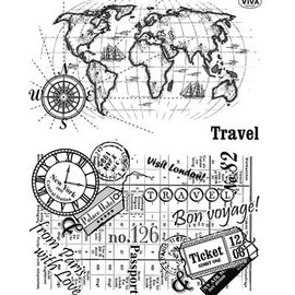 VIVA DEKOR (MY PAPERWORLD) Transparent Stempel, Reise