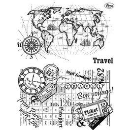 VIVA DEKOR (MY PAPERWORLD) sello transparente, Viajes