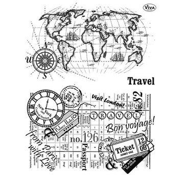 VIVA DEKOR (MY PAPERWORLD) francobollo trasparente, Viaggi