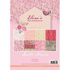 Karten und Scrapbooking Papier, Papier blöcke Pretty Papers - A4 - de Eline Doll House