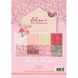 Karten und Scrapbooking Papier, Papier blöcke Smukke Papers - A4 - Eline s dukke hus