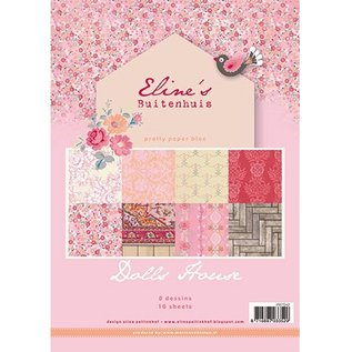 Karten und Scrapbooking Papier, Papier blöcke Pretty Papers - A4 - Eline's Doll House