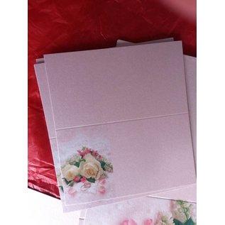 BASTELSETS / CRAFT KITS Edeles Kartenset zu festliche Anlässe, Eheringe mit weissen Rosen- LETZTES SET!