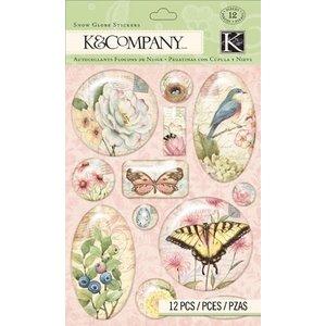 Embellishments / Verzierungen 3 Dimensional Stickers, hübsche Verzierungen, Embellishments, 12 Teile