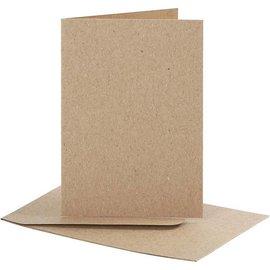 KARTEN und Zubehör / Cards Set: kaarten en enveloppen, kaartformaat 7,5x10,5 cm, natuur