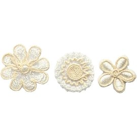 Embellishments / Verzierungen Embroidered flowers in an exclusive look