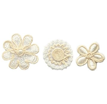 Embellishments / Verzierungen Embroidered flowers in an exclusive look