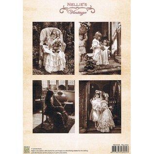 Nellie Snellen Decoupage sheet A4, vintage playtime