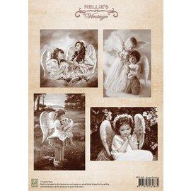 Nellie Snellen Decoupage Bogen A4, Angel Praying