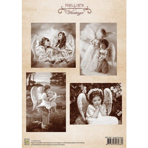 Nellie Snellen Feuille de découpage A4, Angel Praying