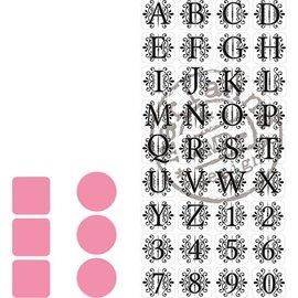 Marianne Design Taglio e goffratura stencil Marianne Design + stamp 32 lettere