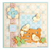 Leane Creatief - Lea'bilities und By Lene Leabilities, stamping - and embossing template Llittle birds