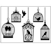 DARICE Embossing folders, 10,8x14,6cm birdcages