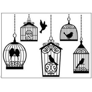 DARICE Prägefolder, 10,8x14,6cm birdcages