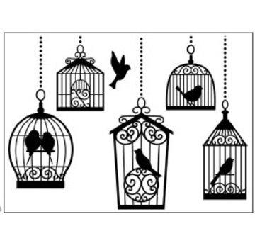 DARICE Cartelle goffratura, gabbie per uccelli 10,8x14,6cm