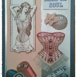 IndigoBlu Stempel A5: Sewing mends the soul, 200x140mm