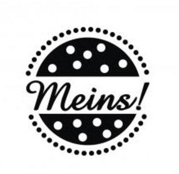 """Stempel / Stamp: Holz / Wood mini bollo di legno con le parole tedesche """"mio"""", due centimetri ø"""