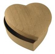 Objekten zum Dekorieren / objects for decorating Papier mache doos hart 15,5x15,5x6,5 cm
