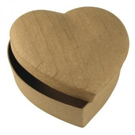 Objekten zum Dekorieren / objects for decorating Paper mache box heart 15,5x15,5x6,5 cm
