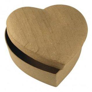 Objekten zum Dekorieren / objects for decorating Papier-maché doos hart, 15,5x15,5x6,5 cm