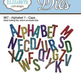 Elisabeth Craft Dies , By Lene, Lawn Fawn Stanz- und Prägeschablone, Elizabeth Craft Design Die Alphabet 1 - Caps 967