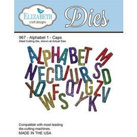 Elisabeth Craft Dies , By Lene, Lawn Fawn Y el estampado de la plantilla, Elizabeth Craft Diseño Alfabeto 1-967 Sombrero