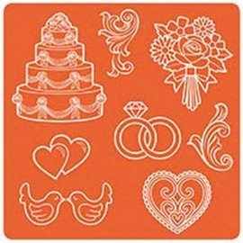 ModPodge Mod Podge Mod Mold mariage, 95 x 95 mm, 8 dessins