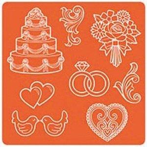 ModPodge Mod Podge, Mod Mold Wedding, 95 x 95 mm, 8 Designs