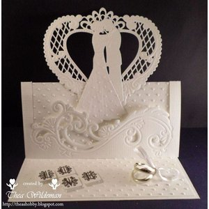 Marianne Design Cutting and embossing stencils Creatables - wedding couple
