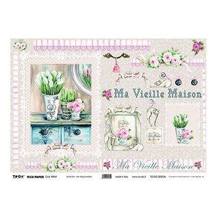 DECOUPAGE AND ACCESSOIRES Rice Paper Decoupage 35 x 50cm - Ma Maison Vieille