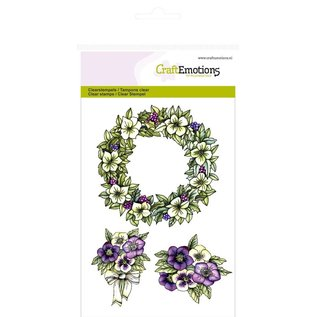 "Stempel / Stamp: Transparent Craft Emotions Transparent stamps A6, delicacy ""garland Purple Holiday"""