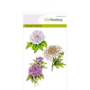 Stempel / Stamp: Transparent Craft Emotions Transparent stamps A6, chrysanthemums branch Botanical Summer