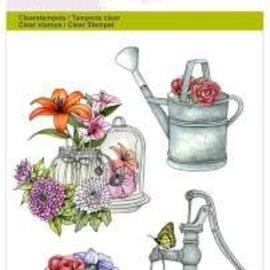 Stempel / Stamp: Transparent Artisanat Emotions tampons transparents A6, pompe arrosage été botanique