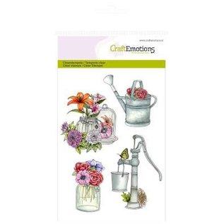 Stempel / Stamp: Transparent CraftEmotions Transparent stempel A6, Pumpe Giesskanne Botanical Summer