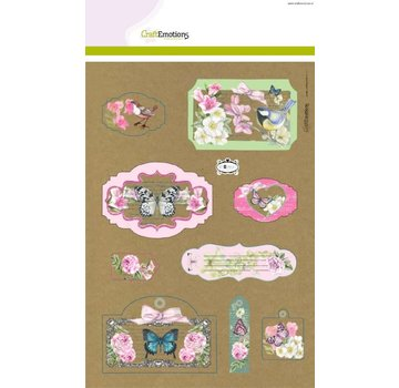 Stempel / Stamp: Transparent Craft Emotions Kraft paper design Botanical 4 Sheets A4
