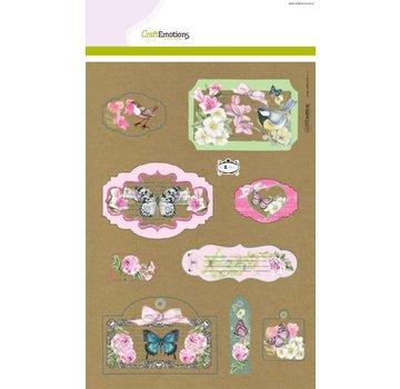 Stempel / Stamp: Transparent Emozioni Craft Kraft carta disegno botanico 4 fogli A4