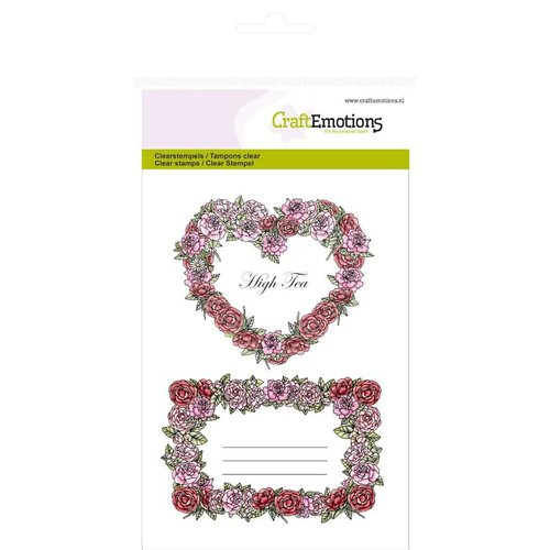 """Stempel / Stamp: Transparent Craft Emoties Transparante stempels A6, delicatesse """"Rose Labels"""""""