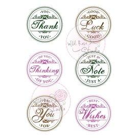 Craftemotions A7 stamp set cirkel Hilsner