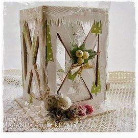 Objekten zum Dekorieren / objects for decorating Let's get Bizzee, Laterne MDF 150 x 100 mm, LETZTE VERFÜGBAR!