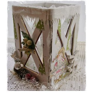 Objekten zum Dekorieren / objects for decorating Let's get Bizzee, lantaarn MDF 150 x 100 mm