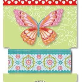 Textil Lennie Flennerie, butterfly fabric ribbon and applique