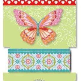 Textil Lennie Flennerie, vlinder Stoflint en applique