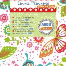 Textil Lennie Flennerie, 50x70cm paño, mariposas